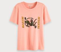 T-Shirt mit Rundhalsausschnitt und Artwork Print