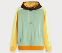 Farbenfrohes Colorblock-Hoodie