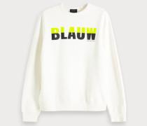Colorblock-Sweatshirt mit Logo
