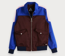 Harrington-Jacke mit Colorblock-Design
