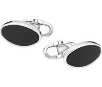 Montblanc Manschettenknöpfe, oval, aus Silber