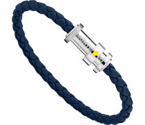 Montblanc Armband aus geflochtenem blauem Leder