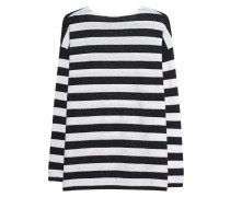Fine Knit Stripe Off White