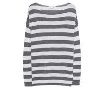 Fine Knit Stripe Grey