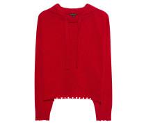 Hooded Wool Red
