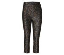 Lurex Jersey Leggings Hose Mit Geraden Beinen Braun GANNI
