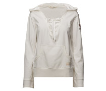 Flying High Kapuzenpullover Pullover Creme