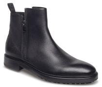 Bohemian_zipb_gr Stiefelette Chelsea Boot Schwarz HUGO