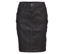 Kimmie Coated Skirt - At Knee