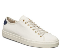 M. Morgan Canvas Sneaker Niedrige Sneaker Creme