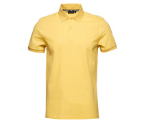 Troy Clean Pique Polohemd Kurzarm-Shirt Gelb J. LINDEBERG