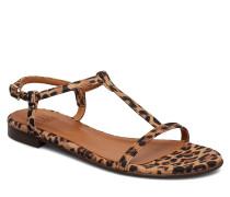 Sandals 4902 Flache Sandalen Braun