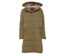 Quilted Parka Jacket With Soft Corduroy Hood Lining