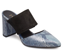 Selma Snake Sandale Mit Absatz Blau SHOE THE BEAR