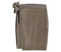 Velvet Corduroy Mini Skirt With Side Tie Detail
