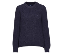 O2. Wool Cotton Cable Crew Strickpullover Blau GANT