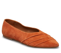 Inez Orange Suede Ballerinas Ballerinaschuhe Orange FLATTERED