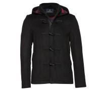 Classic Short Toggle Coat In Bonded Wool Quality Wolljacke Jacke Schwarz SCOTCH & SODA