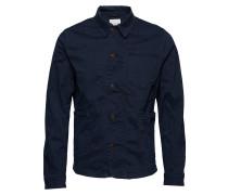 Slhtokyo Navy Cotton Jacket W Hemdjacke Blau SELECTED HOMME