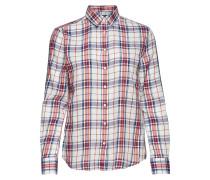 O1. Fine Twill Shirt Langärmliges Hemd Rot