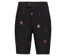 Davidov Baggy Shorts W. Embroideries Tailored Shorts Kurze Shorts Schwarz SOULLAND
