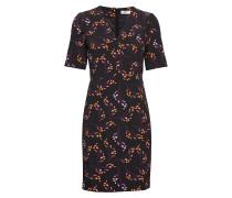 Uli Kleid mit V-Ausschnitt Kleid Knielang Schwarz INWEAR