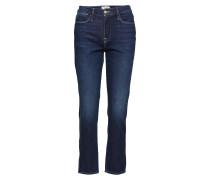 Le High Straight Straight Jeans Hose Mit Geradem Bein Blau FRAME