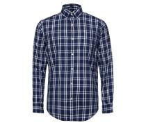O1. Windblown Oxford Plaid Reg Bd Hemd Blau GANT