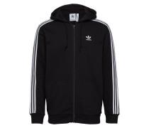3-Stripes Fz Sweatshirts & Hoodies Zip Throughs Schwarz