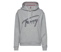 Tjw Tommy Signature Hoodie Hoodie Pullover Grau TOMMY JEANS
