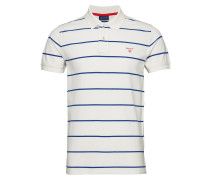 O1.Contrast Stripe Pique Ss Rugger Polohemd Kurzarm-Shirt Weiß GANT