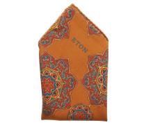 Orange Medallion Print Pocket Square Einstecktuch Orange ETON