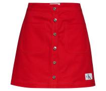 Cotton Twill Mini Sk Kurzes Kleid Rot CALVIN KLEIN JEANS