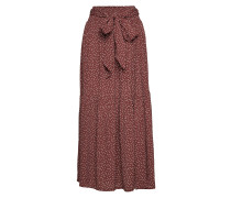 Sharon Skirt Langes Kleid Rot INWEAR