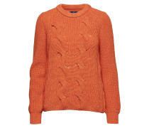 O2. Wool Cotton Cable Crew Strickpullover Orange GANT