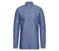Cotton Linen Long Sleeved Shirt - G