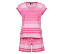 Lrl Dolman V-Neck & Boxer Pj Set Pyjama Pink