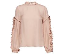 Valeria Frill Sleeve Blouse Bluse Langärmlig Pink