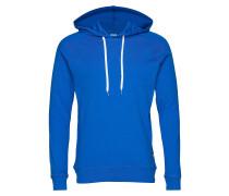 Cotton Rib Star Sweatshirts & Hoodies Hoodies Blau