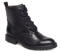 Boots Stiefelette Ohne Absatz Schwarz BILLI BI