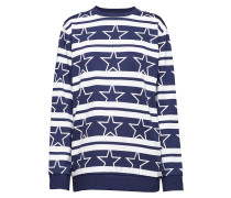 Pullover Print Pullover Blau