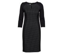 Dress Woven Fabric Kleid Knielang Schwarz GERRY WEBER