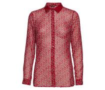 Ls Leslie Shirt Bluse Langärmlig Rot