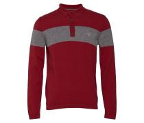 O1. Chest Stripe Knitted Polohemd