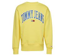 Tjm Clean Collegiate Langärmliger Pullover Gelb TOMMY JEANS