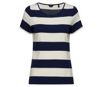 O2. Barstriped Top Tshirt Top Blau GANT