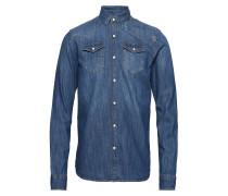 Ams Blauw Easy Westernhemd