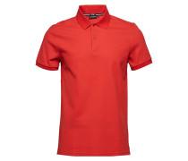 Troy Clean Pique Polohemd Kurzarm-Shirt Rot J. LINDEBERG