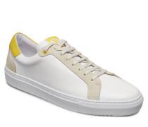 Sneaker Mix Calf Niedrige Sneaker Gelb J. LINDEBERG