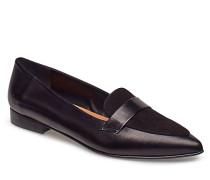 Alexandra Ii Sand Reptile / Black Suede Nappa Loafers Flache Schuhe Schwarz FLATTERED